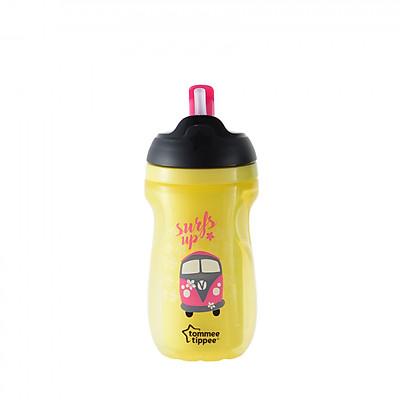 Bình uống nước giữ nhiệt có ống hút cho bé Tommee Tippee 260ml từ 12 tháng - Insulated Straw Vàng
