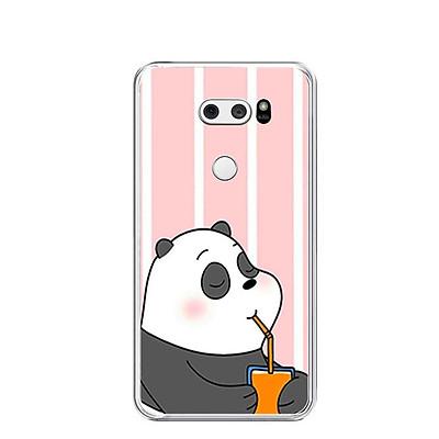 Ốp lưng dẻo cho điện thoại LG V30 - 0399 PANDA06 - Hàng Chính Hãng