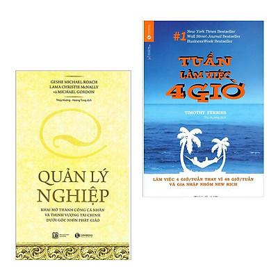 Combo 2 Cuốn Sách Kỹ Năng Làm Việc Hay Để Thành Công: Tuần Làm Việc 4 Giờ (Tái Bản) + Quản Lý Nghiệp (Tái Bản) / Những Cuốn Sách Kinh Tế - Sách Kỹ Năng Làm Việc Hay Nhất (Tặng Bookmark Happy Life)