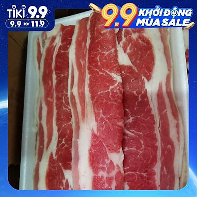 [Chỉ giao HCM] - Thịt Ba chỉ bò Mỹ cắt BBQ - US Beef Short Plate - 500gram