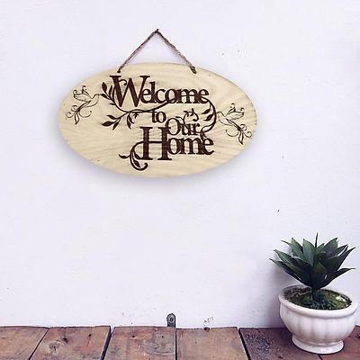 Bảng Gỗ Welcome ( mời vào )  Bàng gỗ DIY