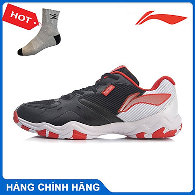 Giày cầu lông Lining AYTR009-2 chính hãng dành cho nam, đế kếp, chống lật cổ chân - Tặng tất thể thao Bendu