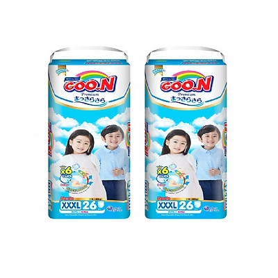 Combo 2 bịch tã quần Goo.n Premium super jumbo XXXL26