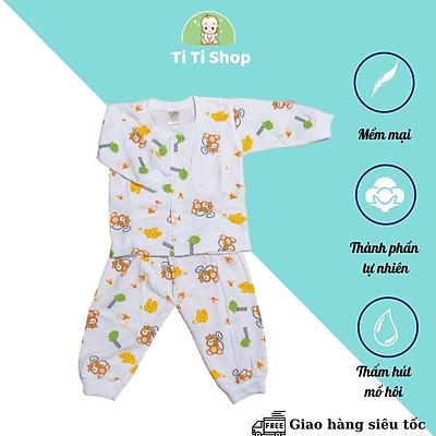 Set áo quần trẻ em sơ sinh HÀNG LOẠI I họa tiết hổ con - trắng - dành cho trẻ 3 - 9kg