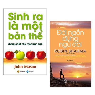 Combo 2 cuốn sách kĩ năng sống:  Sinh Ra Là Một Bản Thể Đừng Chết Như Một Bản Sao + Đời Ngắn Đừng Ngủ Dài ( Tặng kèm Bookmark Happy Life)