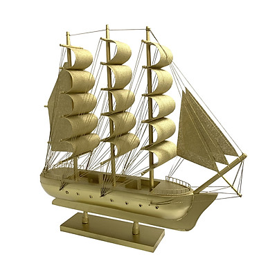Mô Hình Thuyền Gỗ Chở Hàng Le Belem Thân 30cm - Vàng Ánh Kim