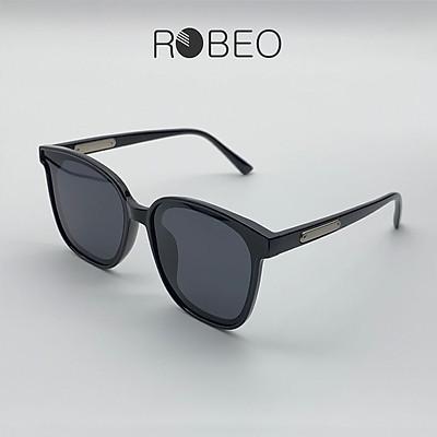 Kính mát vuông ROBEO GM, gọng nhựa tròng phân cực chống tia UV - Fullbox