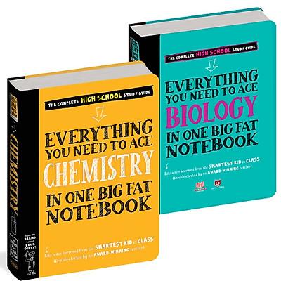Sách - Everything you need to ace Chemistry And biology - Sổ tay hóa học và sinh học - Á Châu books ( tiếng anh, 2 cuốn )