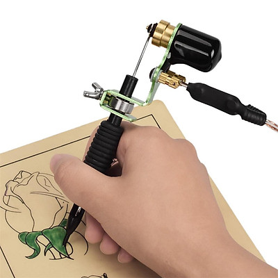 Complete Tattoo Kits Rotary Tattooing Machine Disposable Silicone Cartridge Grip Needles Grommets Rubber Bands Set