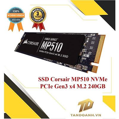 Ổ cứng SSD Corsair MP510 NVMe PCIe Gen3 x4 M.2 240GB - Chính hãng