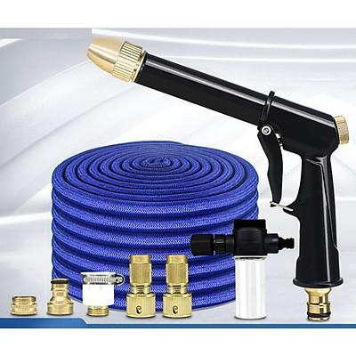 ️ Bộ dây và vòi xịt tăng áp lực nước rửa xe tưới cây loại 5m (dãn nở 15m) 206732