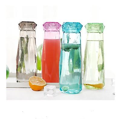 Bình đựng nước, sinh tố, nước detox thủy tinh dáng kim cương cực đẹp, sạch sẽ
