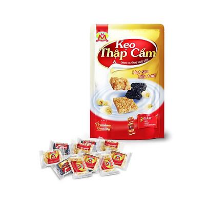 190g Kẹo xốp giòn GẠO MẦM mè đen NGHỆ tươi [ CHAY MẶN đều dùng được ]