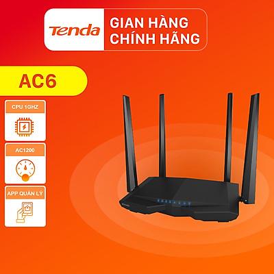 Thiết bị phát Wifi Tenda AC6 Chuẩn AC 1200Mbps - Hàng Chính Hãng