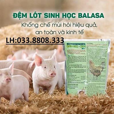 2kg CHẾ PHẨM SINH HỌC BALASA NO1 - Được dùng làm đệm lót trong chăn nuôi cho các loại vật nuôi- Sử dụng sả