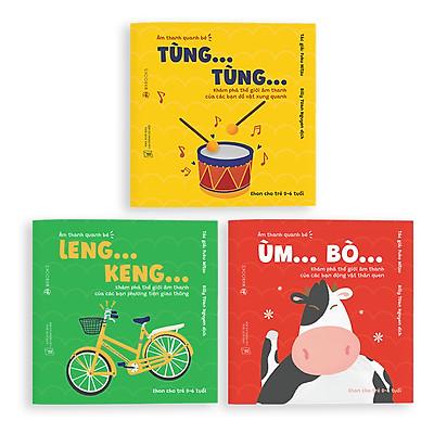 Sách Ehon - Combo 3 cuốn Âm thanh quanh bé  - Dành cho trẻ từ 0 - 6 tuổi