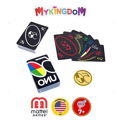 Đồ Chơi MATTEL GAMES Trò Chơi Trí Tuệ Uno Premium - Phiên Bản Đồng Tiền Vàng GXJ94