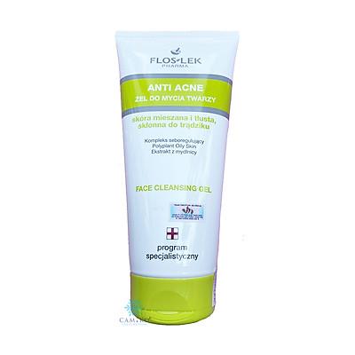 Floslek Sữa Rửa Mặt Dạng Gel Cho Da Nhờn Mụn Anti Acne Bacterial Face Cleansing Gel 200ml