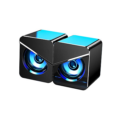 Computer Subwoofer Speaker USB Wired Home Office Desktop Speaker with Heavy Bass Cool Atmosphere Light Stereo Sound