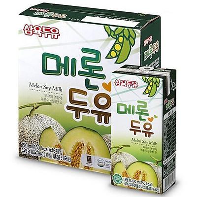 Thùng 16 Hộp Sữa Đậu Nành Vị Dưa Lưới  Sahmyook Foods (190ml x 16)