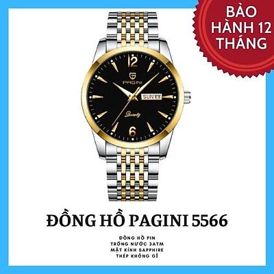 Đồng Hồ Nam Đẹp Cao Cấp Chính Hãng Pagini Pa5566 Dây Thép Không Gỉ - Chống Nước 3ATM - Kim Dạ Quang Cao Cấp