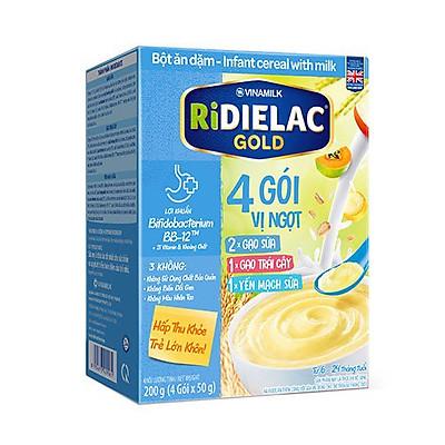 BỘT ĂN DẶM RIDIELAC GOLD 3 VỊ NGỌT - HỘP GIẤY 200G
