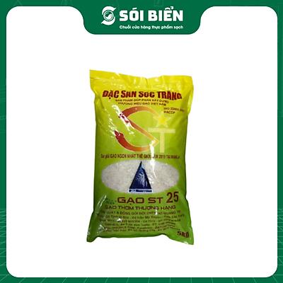 [Chỉ giao HN] - Gạo ST25 Sóc Trăng ( bịch 5kg) - Túi