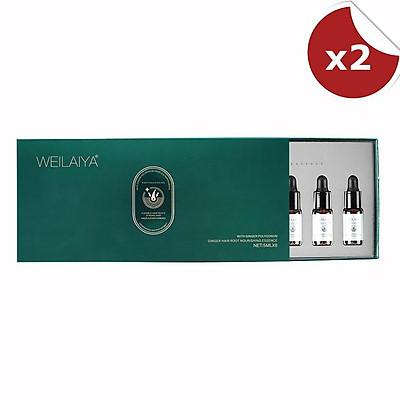 Combo 2 huyết thanh kích mọc và làm dày tóc Weilaiya Ginger Hair Root Nourishing Essence (5ml x 8 lọ)