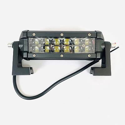 Đèn pha led bar 12 bóng 2 tầng kiểu mắt trâu dài 15cm gắn xe máy ô tô
