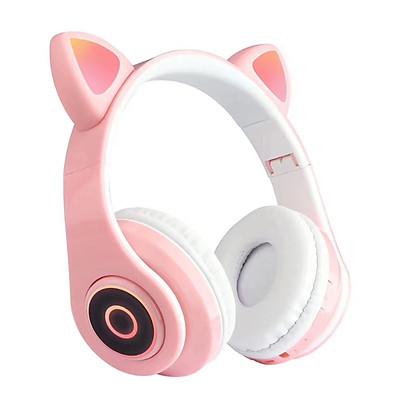 Tai Nghe Nhạc Không Dây B39 Bt5.0 Over-Ear Tai Mèo Phát Sáng Có Thể Gập Lại Với Mic Aux In Thẻ TF