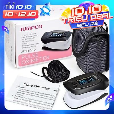 Máy đo nồng độ oxy máu ,  SPO2, PR, PI Jumper 500D OLED ( FDA hoa kỳ  chứng nhận )