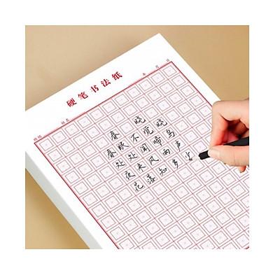 Combo 5 xấp giấy tập viết chữ Hán (ô chữ mễ màu đỏ) dùng luyện viết chữ Nhật Hàn Trung