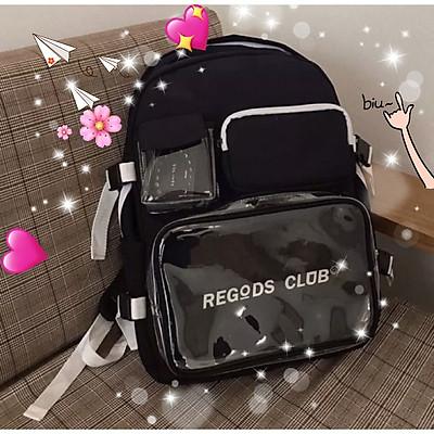Balo Thời Trang Regods club Unisex học sinh sinh viên đi học laptop Balo đi học nam,nữ thời trang hàn quốc cặp