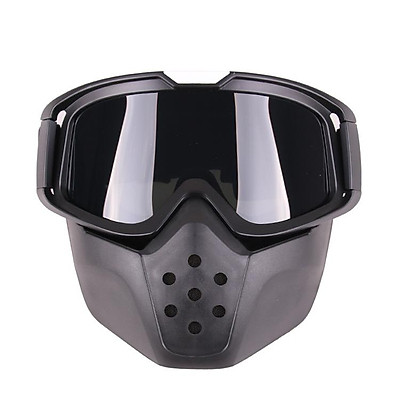 Motorcycle Retro Goggles Glasses Outdoor Sports Anti-sand with Detachable Motorcycle Mouth Filter