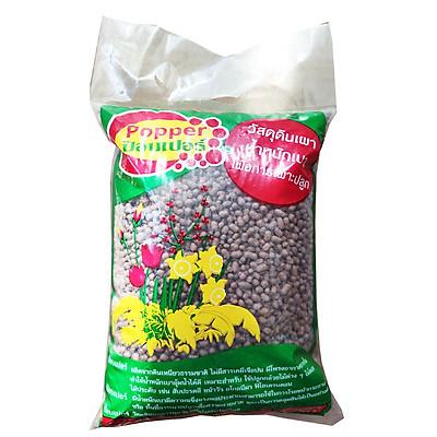 Viên đất sét nung (sỏi nhẹ leca / keramite) popper trồng xương rồng,sen đá, thủy canh, lọc nước THAILAND - 1 lít