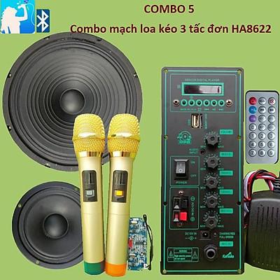 Mạch loa kéo HA8622 Loa kéo 3 tấc Bluetooth Karaoke
