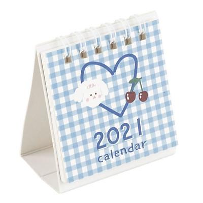 Lịch Để Bàn Mini 2021 Thỏ Caro ( Giao màu ngẫu nhiên)