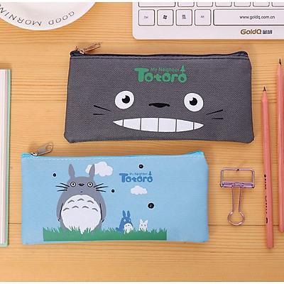 [COMBO 2 chiếc] Túi Vải Đựng Đồ Dùng Học Tập TOTORO - Túi Đựng Bút Viết Siêu Cute