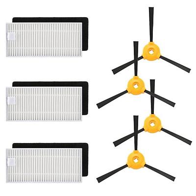 Phụ Tùng Máy Hút Bụi, Robot Hút Bụi Ecovacs Deebot N79, 4 Bàn Chải Bên + 3 Bộ Lọc