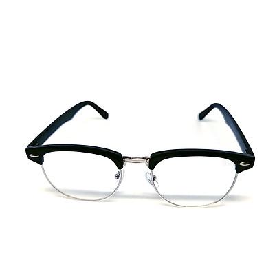 Mắt kính thời trang chống bụi gọng nhựa viền kim loại vuông K3016 unisex nam nữ style giả cận, phong cách tri thức, lịch sự