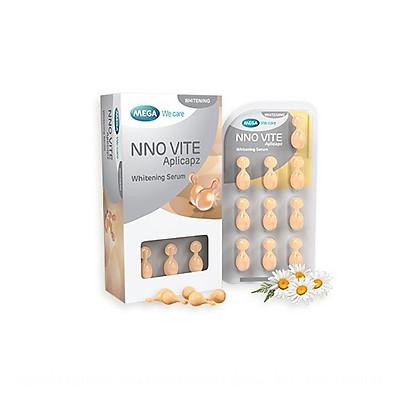 Serum dưỡng trắng NNO VITE Blister giúp dưỡng trắng sáng da &  đều màu da, ngăn ngừa sạm nám, cải thiện tình trạng lão hóa da - Hộp 3 vỉ x 10 viên
