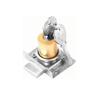 Ổ khoá tủ Việt Tiệp KT97 chất liệu đồng inox màu vàng trắng dùng cho các loại cửa tủ bằng gỗ