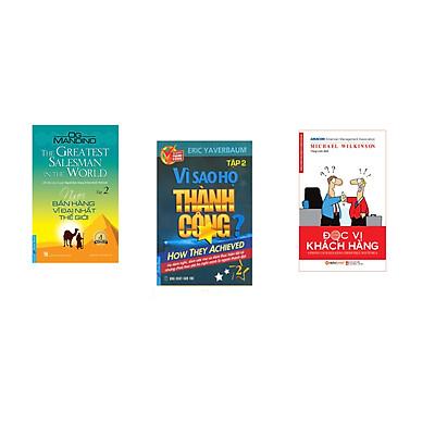 Combo 3 cuốn sách: Người Bán Hàng Vĩ Đại Nhất Thế Giới - tập 2 + Vì Sao Họ Thành Công 2 ? + Đọc Vị Khách Hàng
