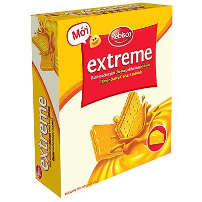 Bánh Extreme Cracker Phủ Phô Mai, Nhân Kem Phô Mai REBISCO Hộp 20 Cái
