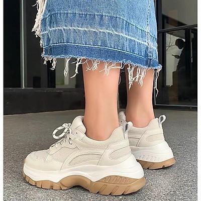 ẢNH THẬT giày sneaker trắng fullbox giày thể thao nữ ulzzang độn đế cao tôn dáng 5cm có sẵn