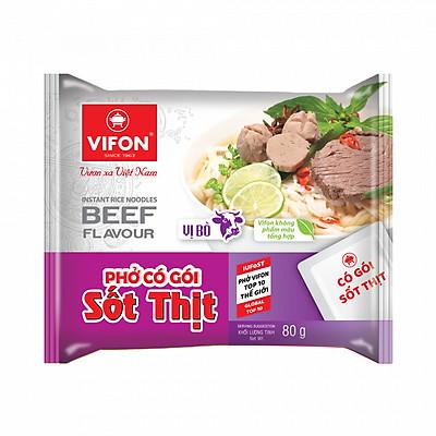 Thùng 30 Gói Phở Có Gói Sốt Thịt Bò 80g Vifon