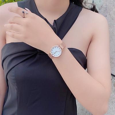 Đồng hồ nữ SKMEI 1185 dây kim loai ( 3 màu )