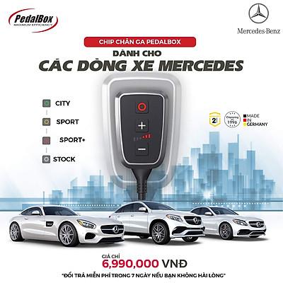 Chip chân ga PedalBox DTE3700 cho Mercedes Class A, B, C, CLC, E, G, R, S, V, CLK, CLS...