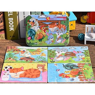 Ghép Hình Puzzle Tổng Hợp 4 Tranh - Con Vật Nuôi Trong Nhà