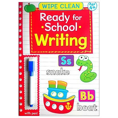 Wipe Clean Ready For School Book With Pen: Writing